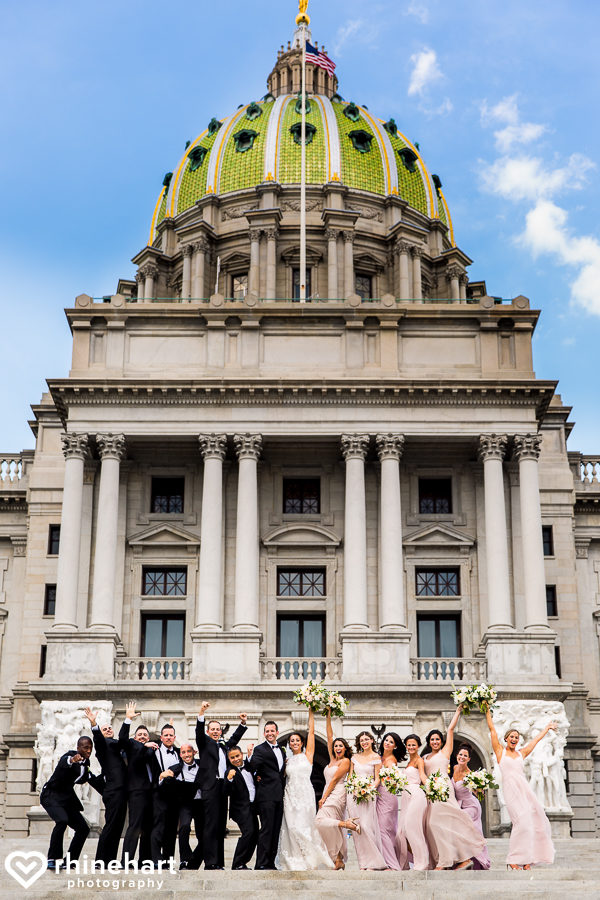 Best Harrisburg PA Wedding Photographers Hilton Capitol Creative Unique-1